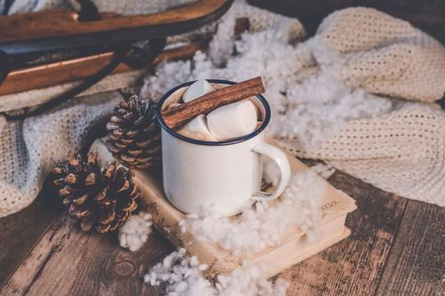 cup of warm drink for christmas