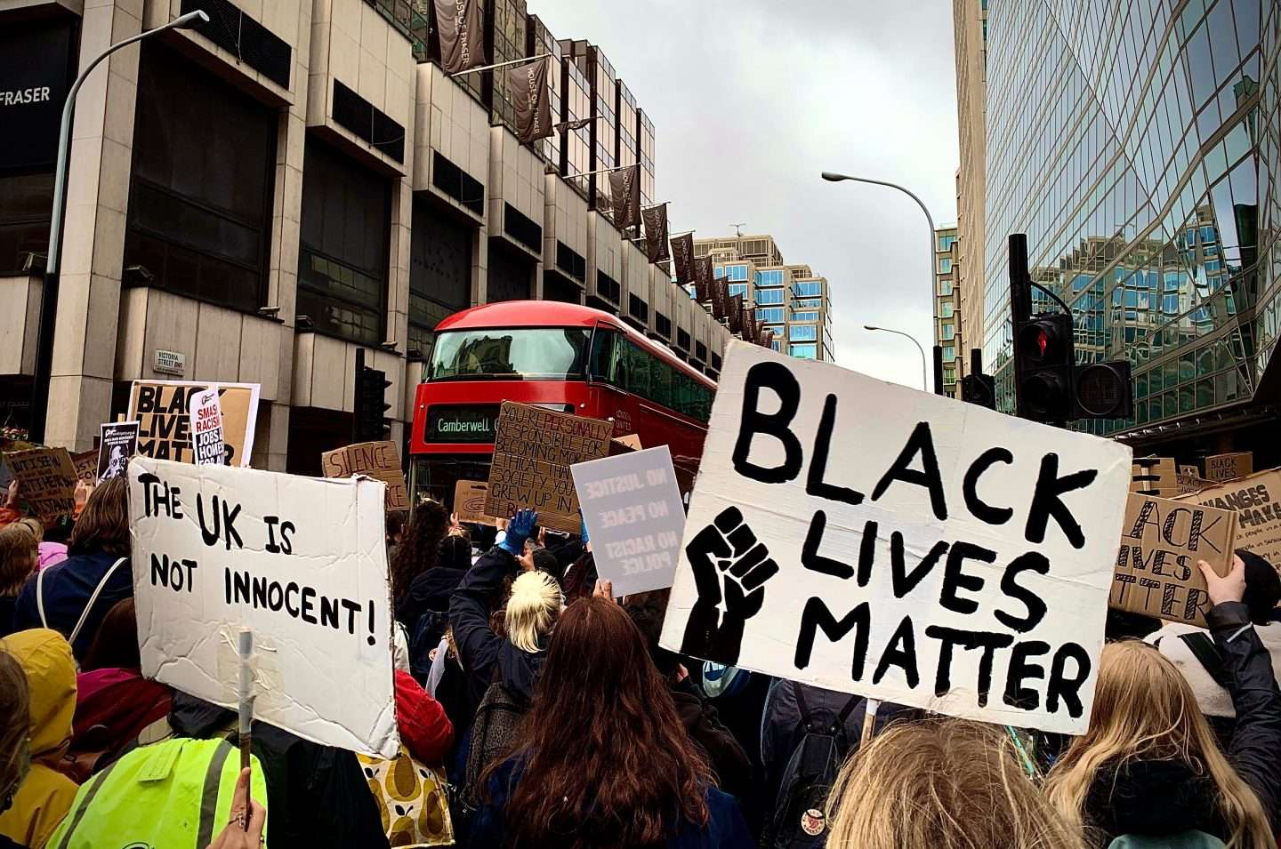 Image from the Black Lives Matter Protest in London 2020